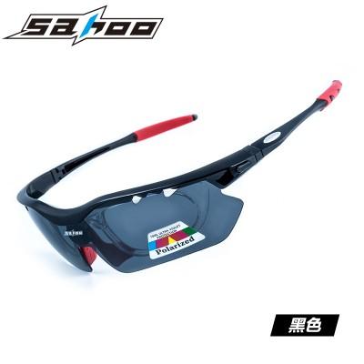 【G6328】SAHOO 鲨虎运动骑行偏光眼镜 近视防风沙自行车户外眼镜 可换镜片