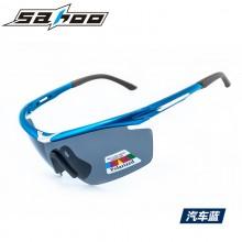 【G6438】SAHOO 鲨虎运动骑行偏光眼镜 防风沙自行车户外眼镜 可换镜片