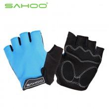【41413】SAHOO鲨虎 骑行半指手套 自行车酷感耐用手套 促销