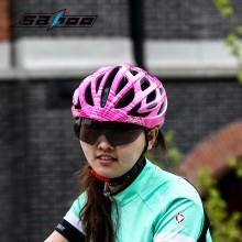 【91928】SAHOO鲨虎 骑行装备自行车安全防护酷感一体成型内置眼镜头盔