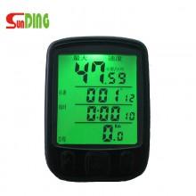 【SD-563】Sunding顺东SD-563A/563C自行车码表  有线/无线 夜光多色里程表 中文 英文