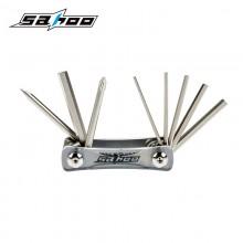【B10012】SAHOO鲨虎 台湾原产 8合1多功能自行车折叠工具 便携