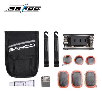 【21042】SAHOO鲨虎 骑行装备 实用便携自行车工具组合套装