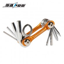 【B10011】SAHOO鲨虎 台湾原产 8合1自行车折叠修车工具(便携工具)
