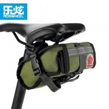 【13894】ROSWHEEL乐炫远征系列 个性帆布鞍座包 自行车尾包 单车工具包