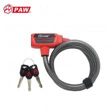 【WL156】PAW豹牌自行车锁加长加粗钢缆锁强力防盗锁