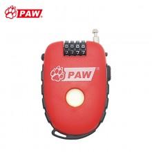 【TL981】PAW豹牌便携式自行车锁防盗密码锁钢缆锁 台湾品质 精致小巧