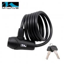 【M231010】M-wave自行车锁8*1500cm  硅胶锁 加长型
