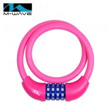 【M231050】M-wave自行车锁 密码锁  12*650mm  硅胶锁