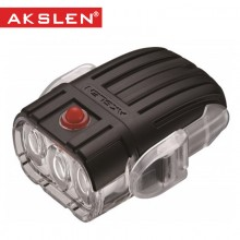 【HL-53】AKSLEN 自行车前灯 50流明 电筒 3LED灯 警示灯 安全实用自行车灯 山地车前灯HL-53  都市系列