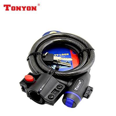 【DL3】TONYON通用TY533E钥匙锁  钢丝防盗锁 通用圈型锁