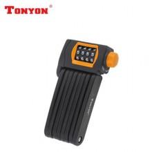 【DLYK4】TONYON通用TY3876自行车锁密码锁折叠锁
