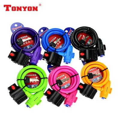 【DL2】TONYON通用TY588自行车锁  钢缆防盗锁  圈形锁