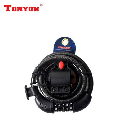【DL4】TONYON通用TY566密码锁 钢缆密码锁 圈形锁