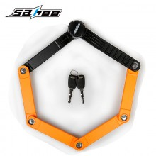 【841359】SAHOO  鲨虎自行车锁 折叠锁 抗液压剪锁10级防盗锁 台湾品质
