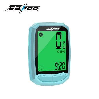 【811410】SAHOO 鲨虎 多功能自行车码表无线防水码表 中文码表