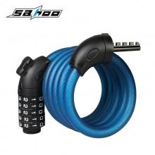 【841404】SAHOO鲨虎  12*1500mm自行车车锁   磨砂锁 密码锁 含锁架一起发