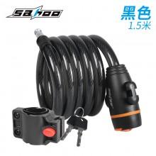 【841401】SAHOO鲨虎  12*1500mm自行车锁 钢缆锁 钥匙 新品