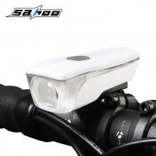 【71386】SAHOO鲨虎自行车灯车前灯防水USB充电山地车前灯夜骑灯
