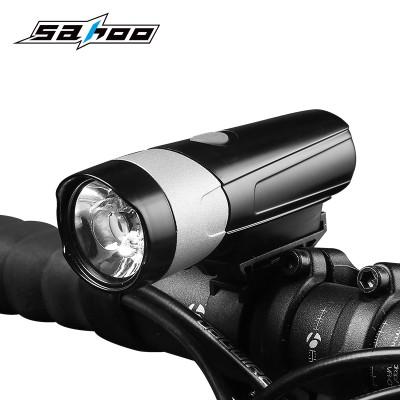 【71389】SAHOO鲨虎自行车灯车前灯防水强光手电筒USB充电山地车前灯强光夜骑灯(新品500LM)