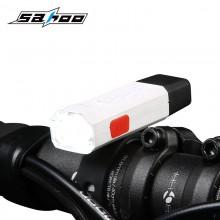 【71393-WHITE】SAHOO鲨虎自行车警示灯USB充电夜骑灯(新品)