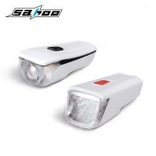 【71386】SAHOO鲨虎自行车灯车前灯防水USB充电山地车前灯夜骑灯(新品)