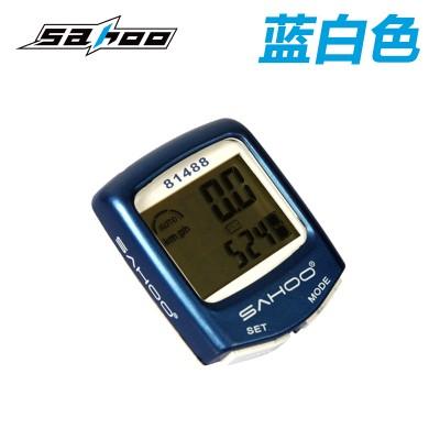 【81488】 SAHOO鲨虎14功能有线防水码表   英文版