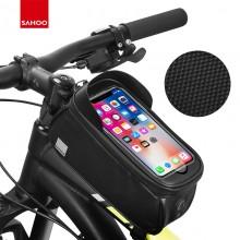 【122053】新品SAHOO品牌TRAVEL系列自行车智能手机上管包带指纹解锁功能带遮阳板