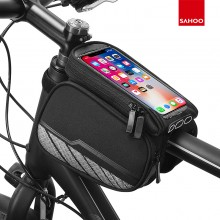 【12813】无logo 中性产品 质感系列 自行车上管包 触屏手机包第二代