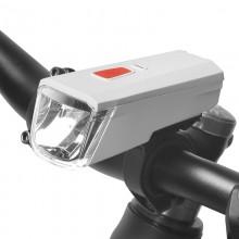 【71387】SAHOO鲨虎自行车灯车前灯USB充电山地车前灯夜骑灯
