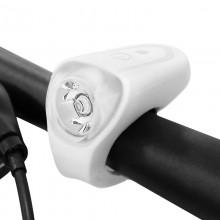【71391-WHITE】SAHOO鲨虎自行车灯车前灯USB充电山地车前灯夜骑灯