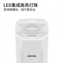 【71393-WHITE】SAHOO鲨虎自行车警示灯USB充电夜骑灯